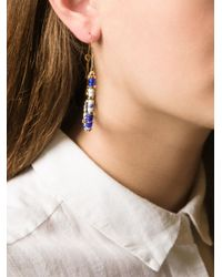 Gas Bijoux - Blue 'Comedia' Hoop Earrings - Lyst