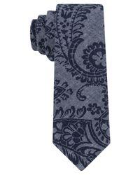 Calvin Klein | Black Block Paisley Skinny Tie for Men | Lyst