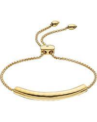 Monica Vinader | Metallic Esencia Diamond Toggle Bracelet | Lyst