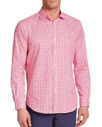 Polo Ralph Lauren - Pink Checked Oxford Estate Sportshirt for Men - Lyst