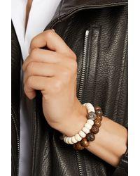 Loree Rodkin - Horn 18karat Rhodium White Gold and Diamond Bracelet - Lyst