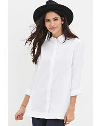 Forever 21 - White Cotton-blend Shirt - Lyst