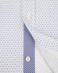 Ted Baker | Purple Sterling Geo Print Shirt for Men | Lyst