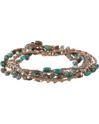 Feathered Soul | Blue Women's Turquoise & Labradorite Beaded Necklace/wrap Br | Lyst