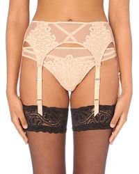 Dita Von Teese | Natural Black Dahlia Lace Suspenders - For Women | Lyst