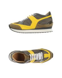 MM6 by Maison Martin Margiela - Yellow Low-tops & Trainers - Lyst