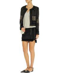 Isabel Marant | Gray Iolana Studded Suede Mini Skirt | Lyst