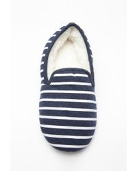 Forever 21 | Blue Heathered Stripe Slippers | Lyst