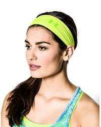 Under Armour | Yellow Printed Logo Headband | Lyst