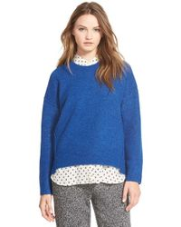 Madewell | Blue 'sonia' Shifted Seam Sweater | Lyst