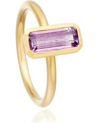 Astley Clarke | Purple 18ct Gold Vermeil Amethyst Ring | Lyst