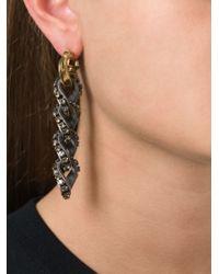 Lanvin | Metallic Loop Drop Clip-On Earrings | Lyst