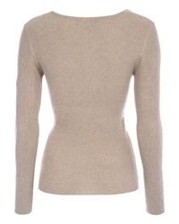 Jane Norman Brown Crossover Wrap Jumper