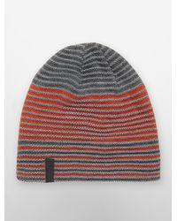 Calvin Klein - Gray White Label Striped Reversible Beanie for Men - Lyst