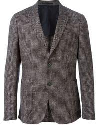 Z Zegna - Gray Checked Blazer for Men - Lyst