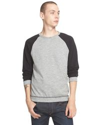 Rag & Bone - Black Raglan Sleeve T-Shirt for Men - Lyst