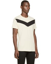 DIESEL - Natural Cream And Black T_mayurino T_shirt for Men - Lyst