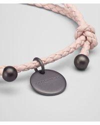 Bottega Veneta - Pink Bracelet In Petale Intrecciato Nappa - Lyst