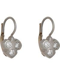 Linda Lee Johnson | Metallic Women's Diamond & Platinum Spring Earrings | Lyst