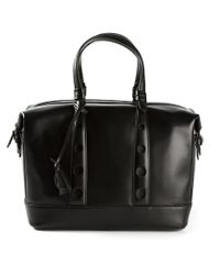 Myriam Schaefer - Black Perforated Handles Tote - Lyst