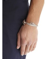 Miansai | Gray Grey Double Wrap Leather Anchor Bracelet for Men | Lyst