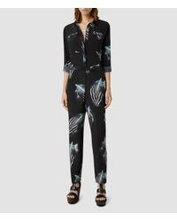 AllSaints - Green Hoshi Print Jumpsuit - Lyst