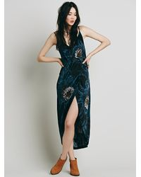 Free People - Blue Womens Summer Lady Printed Dress - Lyst