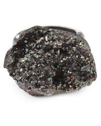 Simona Tagliaferri | Metallic Carbon Agate Ring | Lyst