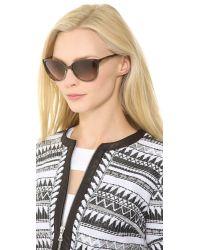Gucci - Slight Cat Eye Sunglasses - Ice/Brown Gradient - Lyst
