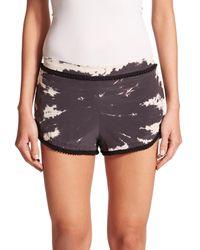 Gypsy 05 - Brown Silk Tie-dye Shorts - Lyst