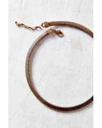 Urban Outfitters | Metallic Accordion Chain Choker Necklace | Lyst