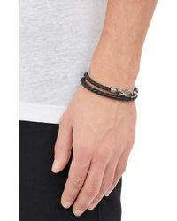 Tod's - Brown Woven Leather Wrap Bracelet for Men - Lyst