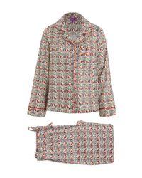 Liberty | Red Mauverina Cotton Long Pyjama Set | Lyst