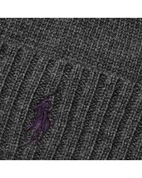 Polo Ralph Lauren | Gray Classic Beanie for Men | Lyst