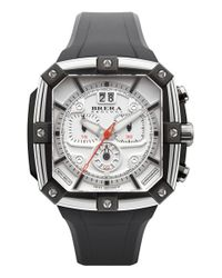 Brera Orologi | Black 'supersportivo' Square Chronograph Rubber Strap Watch for Men | Lyst