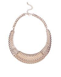 AKIRA - Metallic Woven Collar Necklace Set - Lyst
