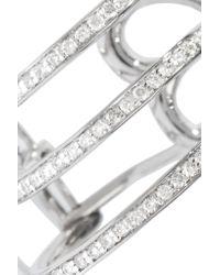 Lynn Ban - Metallic Trilogy Sterling Silver Diamond Earrings - Lyst
