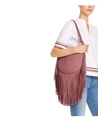 Tory Burch - Purple Fringe Hobo - Lyst