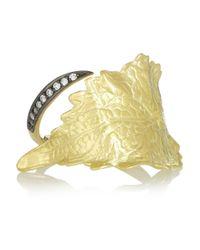Ana Khouri - Metallic Infusion Leaf 18karat Gold Diamond Ring - Lyst