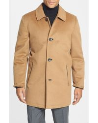 Vince Camuto | Natural Water Repellent Wool Blend Car Coat for Men | Lyst