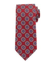 Ermenegildo Zegna | Blue Circle-medallion Print Silk Tie for Men | Lyst