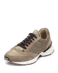 Brunello Cucinelli - Natural Metallic Monili-beaded Sneaker - Lyst