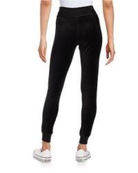 Calvin Klein   Black Velour Jogger Pants   Lyst