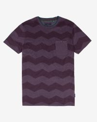 Ted Baker | Purple Zigzag Print T-shirt for Men | Lyst