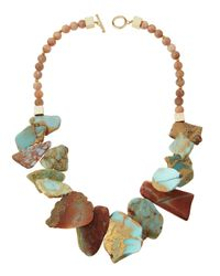 Panacea   Multicolored Jasper & Moonstone Statement Necklace   Lyst