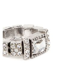 Philippe Audibert - Metallic Barbara Square Stone Ring - Lyst
