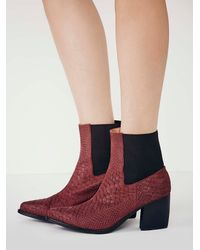 Free People - Red Jeffrey Campbell + Womens New Frontier Boot - Lyst