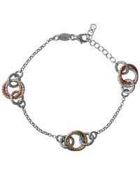 Links of London | Metallic Aurora Bi-colour Linked Hoop Bracelet | Lyst