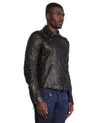 Balmain - Black Leather Jacket - Lyst