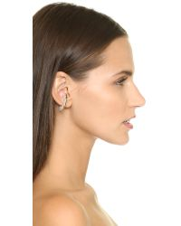 Vita Fede | Metallic Octagon Single Ear Cuff - Gold/clear | Lyst